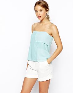 Cami Top with Chiffon Panels, http://cur.lv/aqh5r