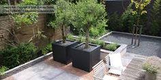Afbeeldingsresultaat voor kleine moderne tuin
