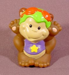 Fisher Price Little People 1998 Circus Monkey With Red Goggles For 72753 Big Top Train