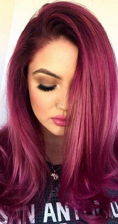 Raspberry Brown Hair Color 135142 35 Best Burgundy Hair Ideas Of 2018 Yummy Wine Colors Dark Pink Hair, Plum Hair, Hair Color Purple, Violet Hair, Brown Hair, Cute Hair Colors, Hair Dye Colors, Cool Hair Color, Lace Hair