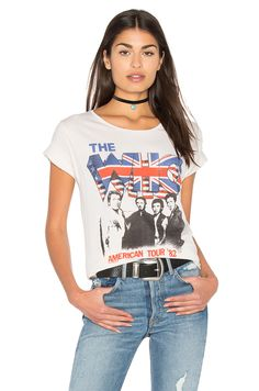 Junk Food The Who American Tour Tee in Ivory
