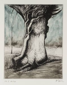 Henry Moore OM, CH 'Trees I Bole and Creeper', 1979 © The Henry Moore Foundation. All Rights Reserved Natural Form Artists, Natural Forms, Henry Moore Drawings, Tate Gallery, Action Painting, A Level Art, Art Graphique, 2d Art, Tree Art