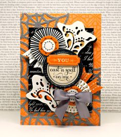 Crafty Creations with Shemaine: Halloween themed project shares Halloween 2015, Halloween Cards, Halloween Themes, Halloween Stuff, Diy Cards, Handmade Cards, Halloween Scrapbook, Anna Griffin Cards, Halloween Backgrounds