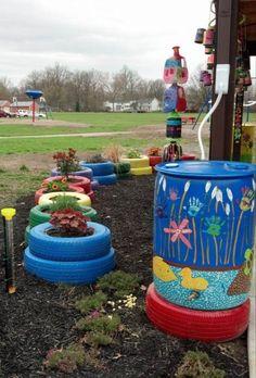 Rain Barrel at Grant Elementary School Outdoor School, Outdoor Classroom, Grants For School, Outdoor Learning Spaces, Green School, Sensory Garden, Rain Barrel, Rainwater Harvesting, Natural Garden