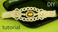 Sun in the Sea - Macrame Bracelet Tutorial. Sun in the Sea waves - Macrame bracelet tutorial with beads. This bracelet has some macrame design elements - waves, chevron, diamonds, . This video tutorial is intended for people who know a little bit about Macrame Bracelet Patterns, Macrame Bracelet Tutorial, Macrame Necklace, Macrame Patterns, Macrame Jewelry, Macrame Bracelets, Macrame Art, Macrame Design, Macrame Knots