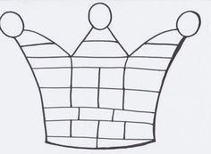Kroon om in te kleuren aan de hand van dobbelsteen of schrijfpatronen