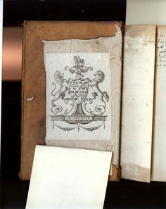 armorial bookplate from rare book collection at Princeton
