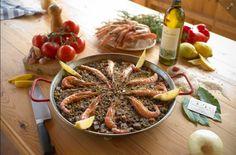 Paella de peix i marisc, Masia Can Pascol Turisme Rural.