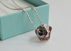 Cadena Rosa Swarovski elements + Pendientes de regalo
