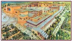 This is an artistic rendering of the Palace at knossos.