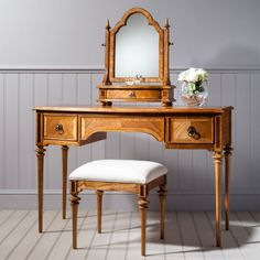 Frank Hudson Spire range by Frank Hudson Furniture. Buy frank hudson spire dining & bedroom furniture at best stockists sale price from CFS UK outlet or online. Dressing Table With Mirror And Stool, 2 Drawer Dressing Table, Vintage Dressing Tables, Dressing Room, Walnut Bedroom Furniture, Barrel Furniture, French Furniture, Classic Furniture, Table Furniture