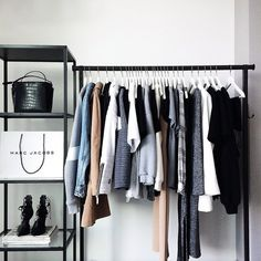10 Gorgeous Open Closet Ideas For Innovative Home Dream Bedroom, Home Bedroom, Bedrooms, Office Inspiration, Industrial Storage Racks, Closet Interior, Organizar Closet, Kleidung Design, Vide Dressing