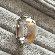 8mm 316 titanium acciaio placcato argento anello cristiana gesù lettera croce bibbia argento wedding band ring uomo donna