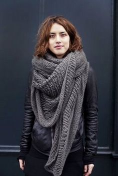 huge grey scarf for fall