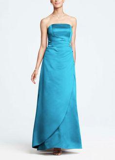 David's Bridal bridesmaid dress in Malibu blue