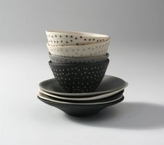 From a few years back. Slipcast inlay porcelain from Australian ceramicist Mel Robson Ceramic Tableware, Ceramic Clay, Ceramic Pottery, Kitchenware, Copper Wood, Cup Art, Plate Design, Ceramic Artists, Clay Pots