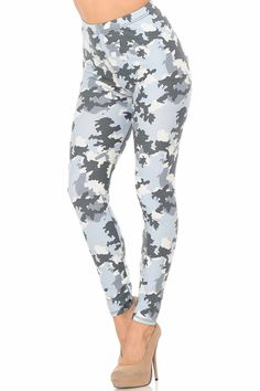 Are you looking for a pair of leggings that is perfect for staying in or running errands? Check out our Buttery Soft Light Blue Camouflage Leggings!   .  .  .  #leggings #onlyleggings #activewear #colorful #fashion #style #instastyle #comfyclothes #boutique #leggingslove #leggingsaddict #leggingsfordays #leggingssport Bandana Design, Plaid Design, Light Blue Leggings, Colorful Leggings, Colorful Fashion, New Fashion, Camouflage Leggings, Glen Plaid, Plus Size Leggings