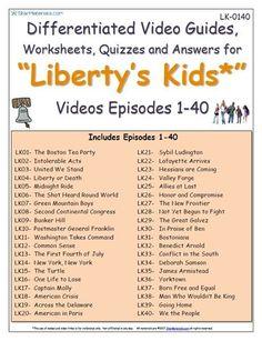 Download a FREE Liberty\'s Kids* Boston Tea Party - Worksheet/Video ...
