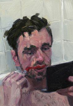 Available for sale from Abend Gallery, Adam Lupton, Fear 12 Oil, 10 × 7 in Sad Art, Illustration Art, Illustrations, A Level Art, Sketch Painting, Pastel Art, Art Portfolio, Art Sketchbook, Aesthetic Art