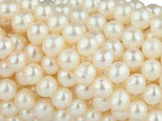 6mm White Potato Freshwater Pearl Strand