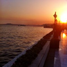 Sunset over the Bosphorus. @Mandy Bryant Dewey Seasons Hotel Istanbul at the Bosphorus