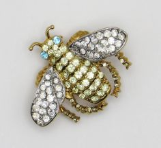 Vintage KJL Kenneth Jay Lane Bumble Bee Rhinestone Brooch Pin #KennethJayLane #Vintage