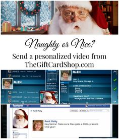 Send a video from Santa! TheGiftCardShop.com makes it easy and fun. Plus the videos are dang cute! #eHolidays #ad #CB