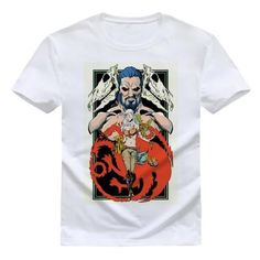 Our line of beautiful custom-designed t-shirts are fitted for a comfortable feel. All of our t-shirts are made with durable eco-friendly material. Daenerys And Khal Drogo, Game Of Thrones Outfits, Funny Tee Shirts, T Shirt, Winter Is Coming, Custom Design, Street Wear, Mens Tops, Clothes