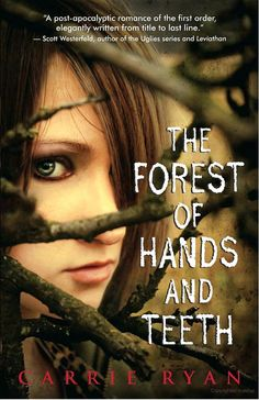The Forest of Hands and Teeth by Carrie Ryan. Awesome book! And seriously creepy! I mean, for the obvious reason--Zombies--but the story, although beautifully written, is just so bleak and dark..and I loved it! Thank goodness it's only a book and it can't teleport you to the post apocalyptic world that Carrie Ryan creates. Yes , it's that creepy :) but in a good way.