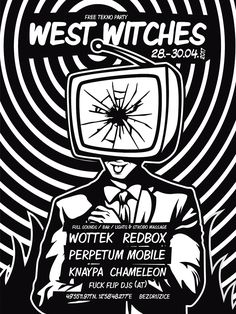 Pavel Mesner - Posters Electro Swing, Vintage Cafe, Witch, Posters, Vintage Coffee, Witches, Poster, Witch Makeup, Wicked
