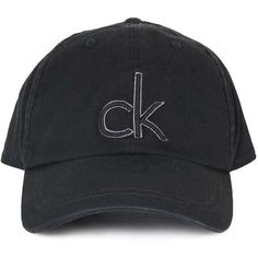 Logo Baseball Cap by Calvin Klein (265 DKK) ❤ liked on Polyvore featuring accessories, hats, cotton hats, baseball caps, ball cap, cotton baseball hats and ball cap hats