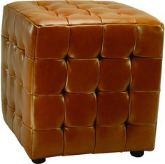 Safavieh Furniture HUD4024C-SET2 - Good things come in pairs. Inspired by the sophisticated plush, tufted furnishings of Park Avenue, the modern Kristof Ottoman (sold in a set of 2) is just