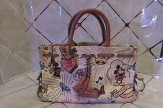 "Disney Dooney & Bourke Sketch Small 12"" Purse HandBag Hard to Find Mickey Mouse  #DooneyBourke"
