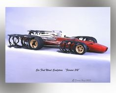 Check out Dennis Hoyt's beautiful wooden sculptures of famed race cars. Ferrari F1, Wood Sculpture, Fast Cars, Concept Cars, The Incredibles, Racing, Track, Image, Car Stuff