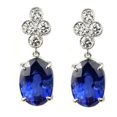 Diamond and Sapphire Earrings ❤ liked on Polyvore featuring jewelry, earrings, sapphire earrings, diamond jewelry, diamond earrings, diamond earring jewelry and sapphire drop earrings