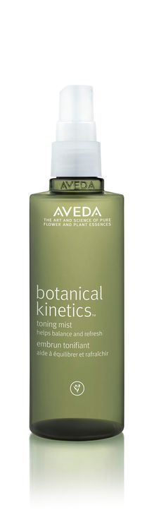 I'm obsessed with toners. I feel all clean and fuzzy after using them. This stuff gives that feeling along with an oh-so calming scent. Aveda - Botanical Kinetics Toning Mist