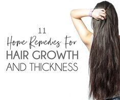Thicker Hair Remedies Want longer and thicker hair? Here are 11 super effective home remedies for hair growth and thickness that you can start doing today. Hair Mask For Growth, Hair Remedies For Growth, Home Remedies For Hair, Hair Growth Tips, Yogurt Hair Mask, Grow Natural Hair Faster, Banana For Hair, Grow Hair, Thicker Hair