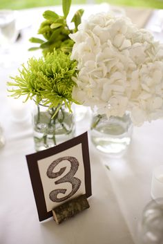 hand stamped table numbers. #southernwedding #ssp