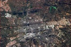 Pretoria, South Africa as seen from the International Space Station tweeted by  Cmdr Chris Hadfield: Pretoria, South Africa, visibly between the Highveld and the Bushveld  ...