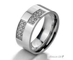 breiter Edelstahl Ring CITY GLAM  im Etui verschiedene...