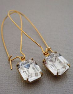 Wedding Bridal Jewelry Simple Bridal Earrings