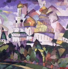 Kandinsky a medio camino de la pintura abstracta.