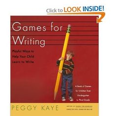 Games for Writing: Playful Ways to Help Your Child Learn to Write - to look into