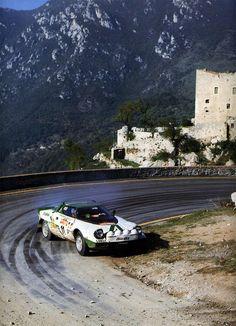 Rally San Remo 1975 Waldegard-Thorszellius Lancia Stratos Alitalia