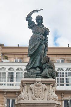 Estatua de Maria Pita en A Coruña