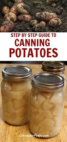 Canning potatoes at home is a great way to preserve the harvest and have food for emergencies and convenience. Canned potatoes can be used as a quick side dish or added to stew or soup. Learn how to can potatoes in this article.#Preservingfood #SimpleLiving #FromScratch #Homesteading Canning Potatoes, Canning Vegetables, Canning Peaches, Canning Pickles, Canning Tips, Canning Recipes, Canned Meat, Canned Foods, Quick Side Dishes