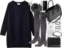 Untitled #19144 by florencia95 featuring suede bootsBlue dress, 105 AUD / Jean-Michel Cazabat suede boots, 975 AUD / Givenchy duffel bag, 3 350 AUD / STELLA McCARTNEY wallet, 600 AUD / Michael Kors jewelry, 66 AUD / M N G silver jewelry / David Yurman bracelet, 145 AUD / Iphone case, 69 AUD / MAC Cosmetics liquid eyeliner / Nars cosmetic, 28 AUD