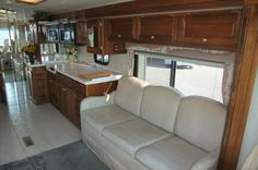 Motorhome - Living room before