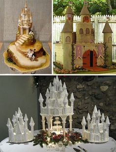 Pinned for the Castle Cake on the bottom-like the pinecones, berries, and greenery for a Christmas wedding