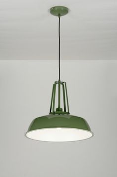 England / UK online shop : click on this link : https://www.lumidora.com/en/  E-mail: english@rietveldlicht.nl Phone number: 0031 184 421965 No delivery costs  Huisdecoratie . Lighting stores - Home & interior .Suitable for LED This industrial pendant lamp provides a pop of color to your room. Green is a timeless color that is both soft and powerful, subtle and prominent, classic and trendy. It brings other colours to life without fading into the background. A lamp in this color will defin